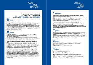 Convocatorias del 29 de septiembre al 5 de octubre