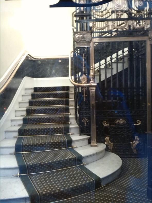 No es la escalera de servicio