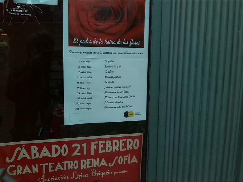 Cartel de rosas