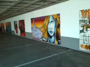 Arte en un garaje