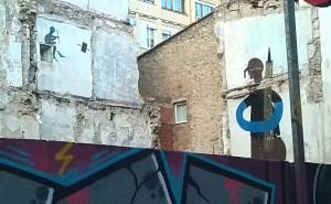 Guión graffitero en Girona