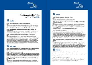 Convocatorias CASA DEL LECTOR