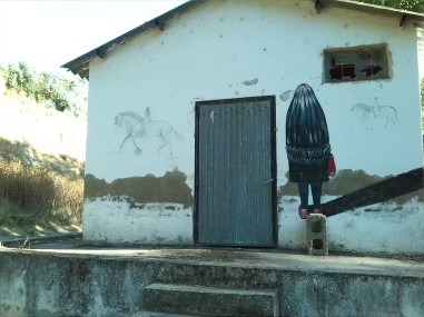 Grafitti en el rio