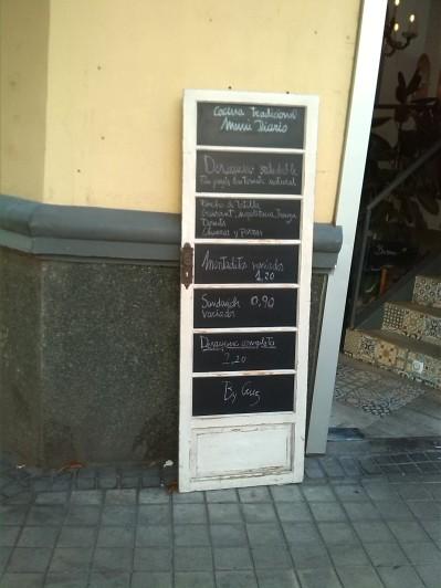 La puerta del Menú