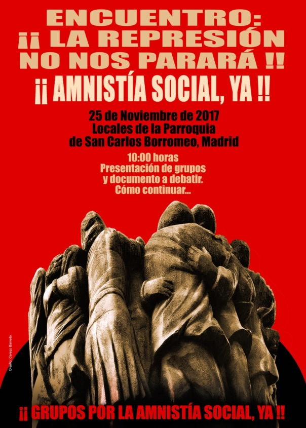 Cartel Encuentro La represión no nos parará copia